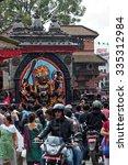 kathmandu  nepal  october 18 ... | Shutterstock . vector #335312984