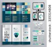 blue brochure template design... | Shutterstock .eps vector #335314808