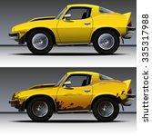 vector modern cartoon car ... | Shutterstock .eps vector #335317988