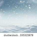 winter christmas landscape with ... | Shutterstock . vector #335325878