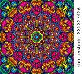 60s hippie psychedelic art...   Shutterstock .eps vector #335327426