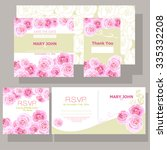 wedding invitation with pink... | Shutterstock .eps vector #335332208