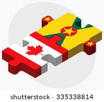 canada and grenada flags in... | Shutterstock .eps vector #335338814