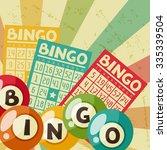 bingo or lottery retro game... | Shutterstock .eps vector #335339504