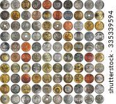 background of old coins from... | Shutterstock . vector #335339594