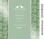 vintage wedding invitation card | Shutterstock .eps vector #335348420