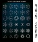 vector set of geometric... | Shutterstock .eps vector #335358860