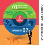 two sides infographic template  ... | Shutterstock .eps vector #335358890