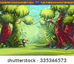 illustration of a toucan jungle ... | Shutterstock . vector #335366573