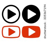 collection of video play button ... | Shutterstock .eps vector #335367194
