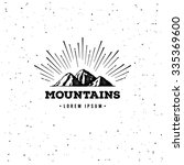 vector mountains emblem.... | Shutterstock .eps vector #335369600