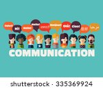 people icons with speech... | Shutterstock .eps vector #335369924