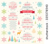 christmas set   illustration... | Shutterstock .eps vector #335378540