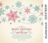 vintage christmas card  ...   Shutterstock .eps vector #335378549
