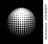 halftone  logo template. white...   Shutterstock . vector #335380859