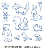 Cute Cartoon Forest Animals....