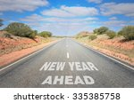 new year ahead. conceptual... | Shutterstock . vector #335385758