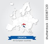 croatia. europe administrative... | Shutterstock .eps vector #335387120