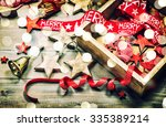 christmas decoration and... | Shutterstock . vector #335389214