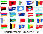 flags. set 1. albania  algeria  ... | Shutterstock .eps vector #335390210