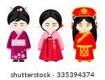 cute asian girls in national...