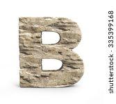 Stone 3d Font Letter B