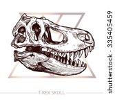 Dinosaur Skull. Drawing Of T...