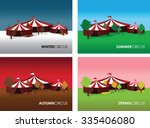 a set of four seasonal circus... | Shutterstock .eps vector #335406080