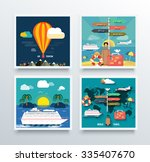 air tourism and world travel... | Shutterstock .eps vector #335407670