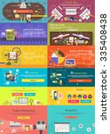 set of banner concept pay per... | Shutterstock .eps vector #335408438