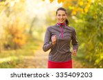 female fitness model training... | Shutterstock . vector #335409203