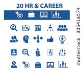 hr  career  job  icons  signs... | Shutterstock .eps vector #335416574