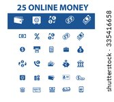 online money  banking  icons ... | Shutterstock .eps vector #335416658