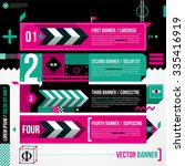three banners in weird... | Shutterstock .eps vector #335416919