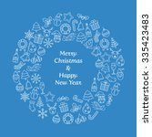 merry christmas and happy new... | Shutterstock .eps vector #335423483