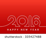 2016 happy new year sewing... | Shutterstock .eps vector #335427488
