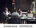 business team meeting... | Shutterstock . vector #335440136