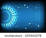 blue technology number... | Shutterstock .eps vector #335441078
