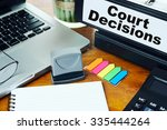 court decisions   ring binder...   Shutterstock . vector #335444264