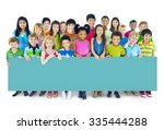 multi ethnic group of children... | Shutterstock . vector #335444288