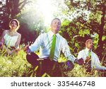 Business People Meditating...