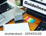 guidelines   ring binder on... | Shutterstock . vector #335453120