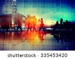 business people commuter... | Shutterstock . vector #335453420