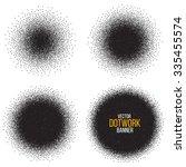 dotwork circle banners. noisy...   Shutterstock .eps vector #335455574
