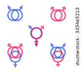 lgbt symbol icons with...