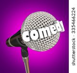 comedy word in 3d letters on a... | Shutterstock . vector #335466224