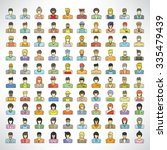 people icons set  cute design... | Shutterstock .eps vector #335479439