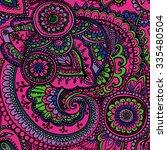 seamless pattern based on... | Shutterstock .eps vector #335480504