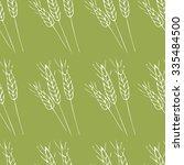 seamless wheat pattern. hand... | Shutterstock .eps vector #335484500