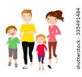 running family  | Shutterstock .eps vector #335491484
